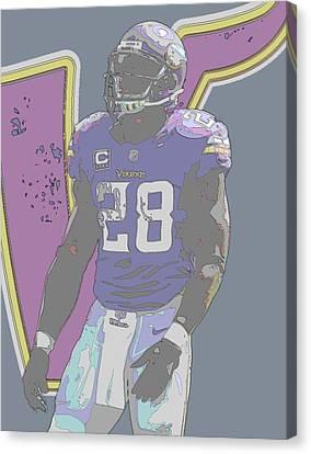 Peterson Canvas Print - Adrian Peterson Minnesota Vikings Contour Art by Joe Hamilton