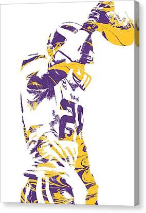Peterson Canvas Print - Adrian Peterson Minnesota Vikings Pixel Art 5 by Joe Hamilton