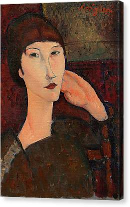 Adrienne Woman With Bangs Amedeo Modigliani 1916 Canvas Print