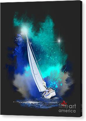Wandering Star Canvas Print - Adrift by Barbara Hebert
