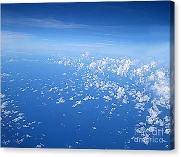 Adrift In A Sea Of Calm Canvas Print by Addie Hocynec