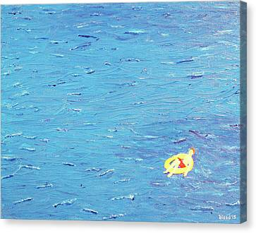 Canvas Print featuring the painting Adrift by Thomas Blood
