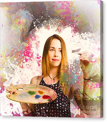 Adult Art Class Painter Canvas Print by Jorgo Photography - Wall Art Gallery