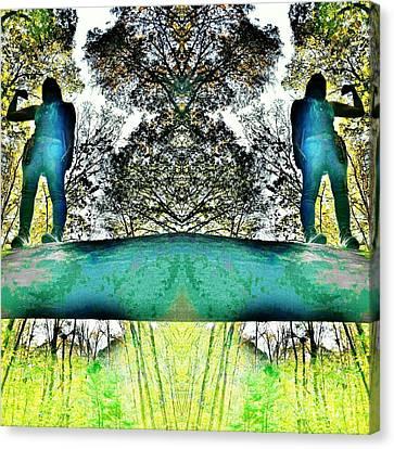 Adventure Girl Twins Strike A Pose Canvas Print