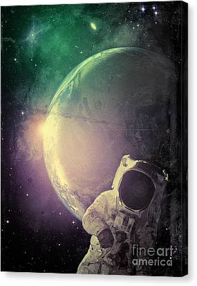 Adventure In Space Canvas Print by Phil Perkins