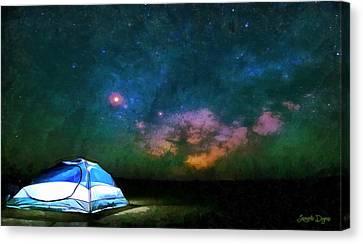 Adventure Under The Sky - Da Canvas Print by Leonardo Digenio