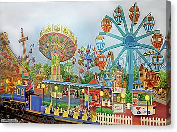 Adventureland Canvas Print by Bonnie Siracusa