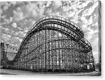 Adventureland Pier Rollercoaster - Wildwood New Jersey Canvas Print by Bill Cannon