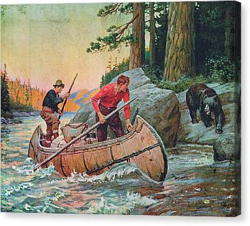 River Canvas Print - Adventures On The Nipigon by JQ Licensing