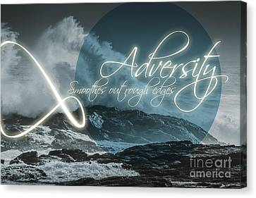 Frustration Canvas Print - Adversity Smoothes Out Rough Edges by Jorgo Photography - Wall Art Gallery