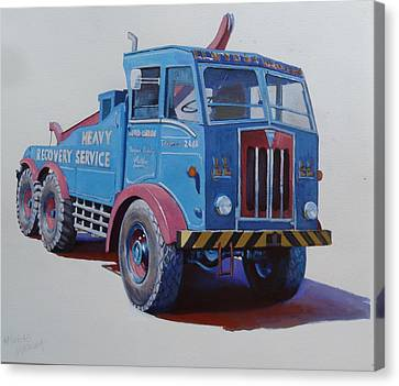 Canvas Print featuring the painting Aec Militant Lloyds by Mike Jeffries