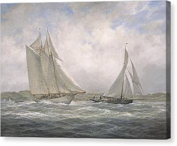 Aello Beta And Marigold Off The Isle Of Wight Canvas Print by Richard Willis