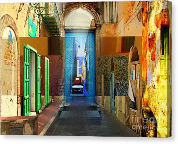 Aeolian Alleys Canvas Print by Ayesha DeLorenzo