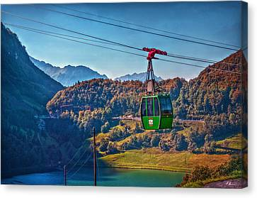Aerial Cableway Canvas Print by Hanny Heim