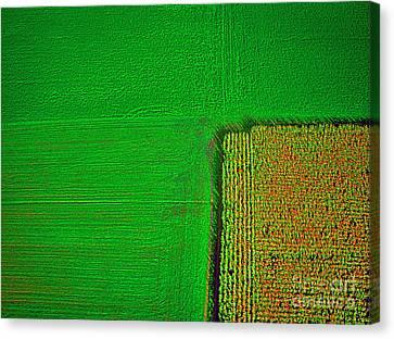 Aerial Farm Mchenry Il  Canvas Print by Tom Jelen