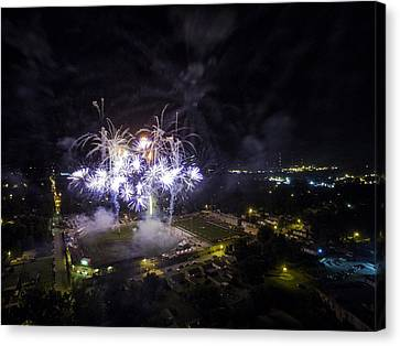 Independance Canvas Print - Aerial Fireworks V3 by Robert Turek