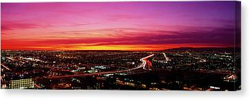 Aerial Los Angeles Ca Canvas Print
