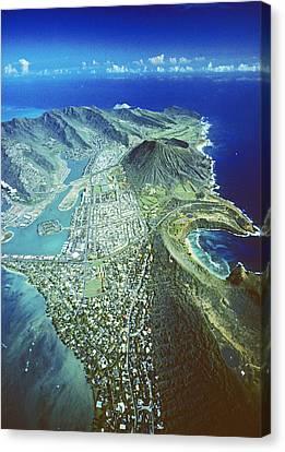 Aerial Of Eastern Oahu Canvas Print