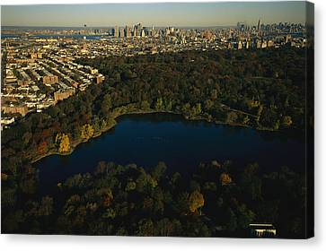 Aerial Of Prospect Park Canvas Print
