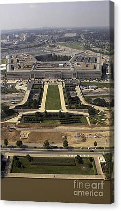 Aerial Photograph Of The Pentagon Canvas Print by Stocktrek Images