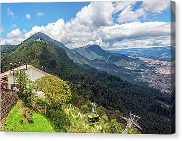 Aerial Tramway On Monserrate Canvas Print by Jess Kraft