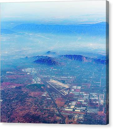 Aerial Usa. Los Angeles, California Canvas Print by Alex Potemkin