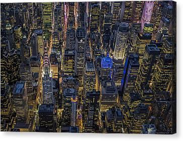 Aerial View Midtown Manhattan Nyc Canvas Print by Susan Candelario