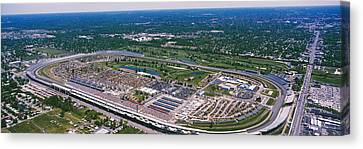 Aerial View Of A Racetrack Canvas Print by Panoramic Images