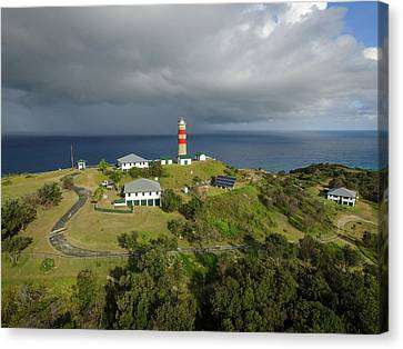 Aerial View Of Cape Moreton Lighthouse Precinct Canvas Print
