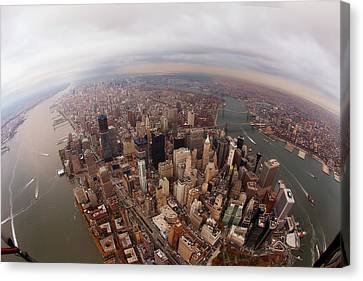 Aerial View Canvas Print - Aerial View Of City by Eric Bowers Photo