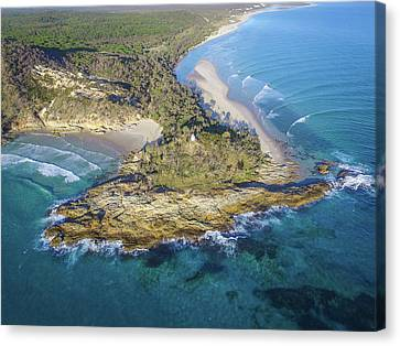 Aerial View Of North Point, Moreton Island Canvas Print