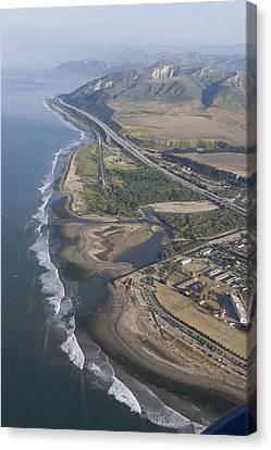 Aerial View Of Ventura Point, Ventura Canvas Print by Rich Reid
