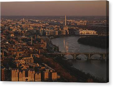 Aerial View Of Washington, D.c Canvas Print by Kenneth Garrett