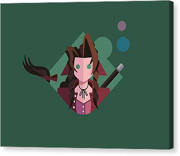Canvas Print featuring the digital art Aeris by Michael Myers