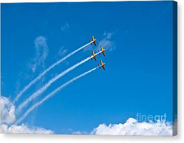 Canvas Print featuring the photograph Aerobatics by Yurix Sardinelly