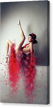 Modern Digital Art Digital Art Canvas Print - Aerobic by Nichola Denny