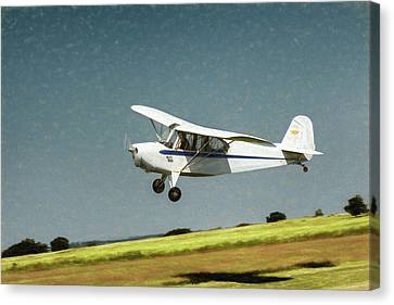Canvas Print featuring the photograph Aeronca 7a C by James Barber