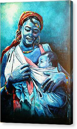 Affection Canvas Print by Bankole Abe