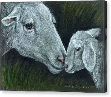 Affectionate Nuzzle Canvas Print by Linda Nielsen