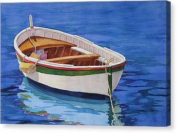 Canvas Print featuring the painting Afloat by Judy Mercer