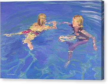 Water Swimming Pool Canvas Print - Afloat by William Ireland