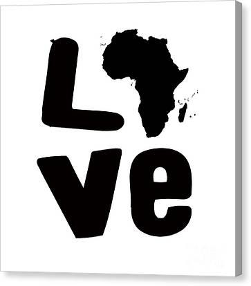 Afrakan Love  Canvas Print