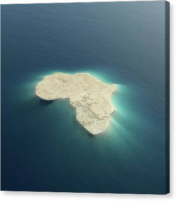 Abstract Map Canvas Print - Africa Conceptual Island Design by Johan Swanepoel