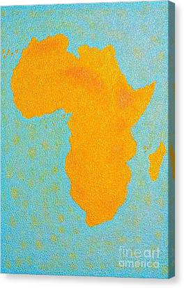Africa No Borders Canvas Print by Assumpta Tafari Tafrow Neo-Impressionist Works on Paper
