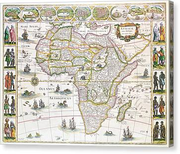 Africa Nova Map Canvas Print by Willem Blaeu