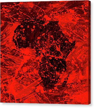 Discrimination Canvas Print - African Splatter by Brian Reaves
