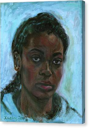 Canvas Print featuring the painting African American 15 by Xueling Zou