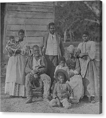 African American Slave Family Canvas Print by Everett