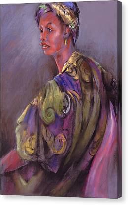 African Beauty Canvas Print by Joan  Jones