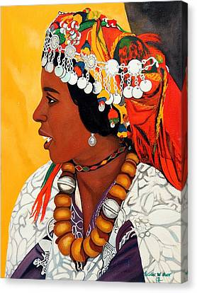 African Beauty Canvas Print by Patrick Hunt